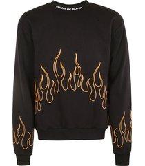 vision of super flame print sweatshirt
