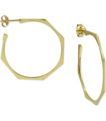 argento vivo geometric hoop earrings in gold-plated sterling silver