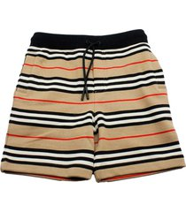 burberry fleece shorts trousers with drawstring with striped pattern check