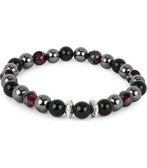 jean claude men's dell arte stretchable beaded bracelet