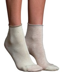 lemon women's mismatched silk anklet socks