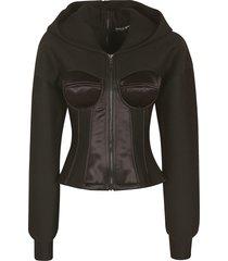 dolce & gabbana technical slim fit hoodie