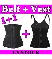 chaleco underbust waist cincher vest trainer tummy girdle control body shaper