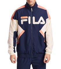 fila men's logo track jacket - peacoat - size l