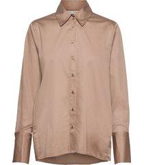 vexiw shirt overhemd met lange mouwen bruin inwear