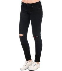 diesel womens skinzee low waist skinny jeans size 33r in black