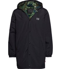 hooded coachs jacket caviar parka jas zwart levi´s men