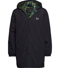hooded coachs jacket caviar parka jas zwart levi´s men