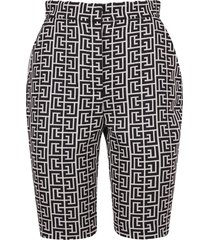 balmain branded shorts
