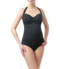 women's kimi and kai dana one-piece maternity swimsuit, size small - black
