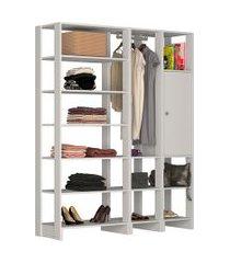 estante closet nova mobile yes com 1 porta 1 cabideiro e 12 prateleiras