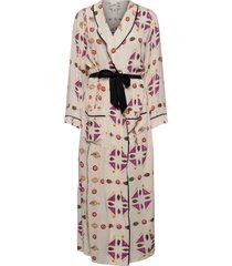 printed paper viscose robe dress morgonrock multi/mönstrad victoria victoria beckham