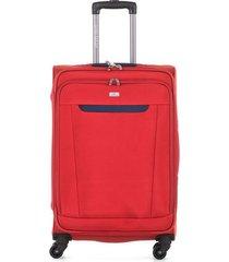 maleta de viaje mediana textil ruedas 360 94123 carmesí 24.5