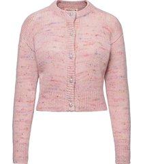 vilja stickad tröja cardigan rosa custommade