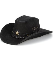 chapéu fourcountry americano couro preto trançado