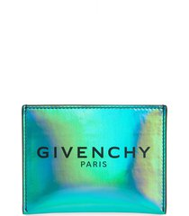 men's givenchy logo holographic card case -