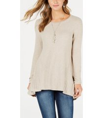 style & co high-low tunic sweater, created for macy's