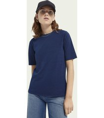 scotch & soda katoenen t-shirt met korte mouwen