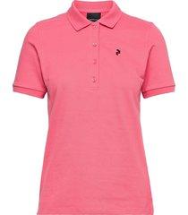 w classic polo t-shirts & tops polos rosa peak performance
