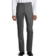 saks fifth avenue men's standard-fit houndstooth wool pants - grey - size 38