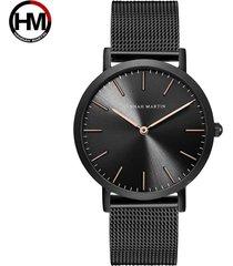 reloj de malla de acero inoxidable para hombre-gris