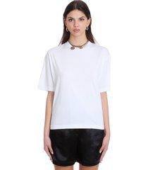 acne studios edie t-shirt in white cotton