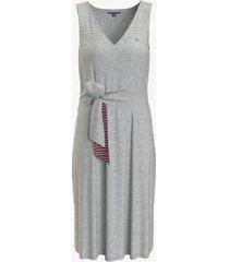 tommy hilfiger women's essential tie-front solid dress light grey heather - s
