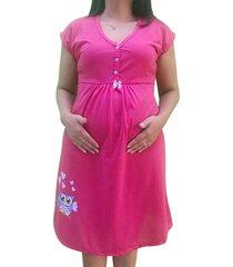 camisola gestante e maternidade manga curta mamãe coruja linda gestante