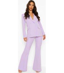 getailleerde broek met wijd uitlopende pijpen, lilac