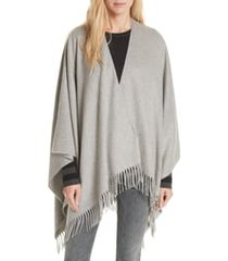women's rag & bone cashmere poncho, size one size - grey