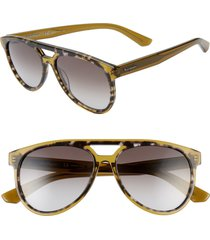 men's salvatore ferragamo 57mm aviator sunglasses -