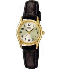 reloj analógico mujer casio ltp-1094q7b2 - negro con perlado  envio gratis*