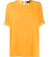paule ka relaxed fit turn up cuff blouse - yellow