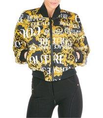women's outerwear jacket blouson reversibile logo baroque