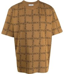 j.w. anderson tobacco and black cotton t-shirt