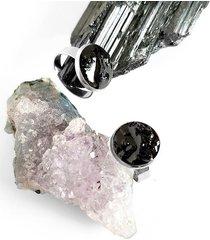 czarny turmalin pierścionek klasyczny