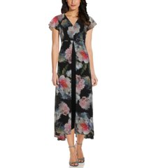 adrianna papell floral print jumpsuit