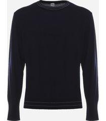 eleventy merino wool sweater with contrasting stitching