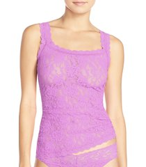 women's hanky panky 'signature lace' camisole, size medium - purple