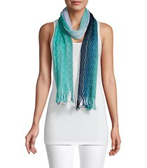 long fringed cotton scarf