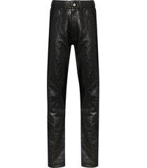 marine serre moon print trousers - black