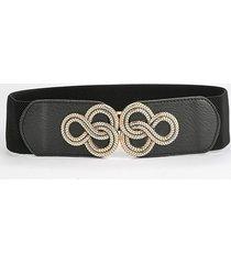 engraved buckle elastic waist belt