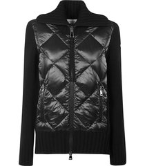 moncler quilted zip cardigan