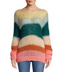 mohair multicolored stripe sweater
