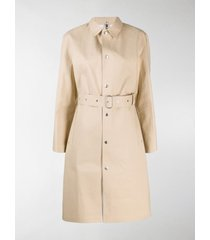 jil sander x mackintosh belted trench coat