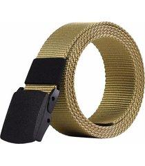 cinturón reata militar nylon hebilla hombre color caqui