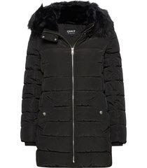 onlcamilla quilted coat cc otw gevoerd jack zwart only