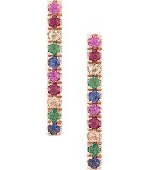 zofia day rainbow bar earrings - metallic