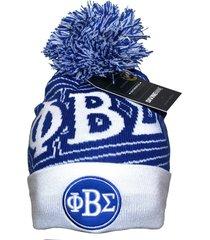 phi beta sigma fraternity mens new beanie blue