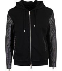 dsquared2 logo hood print zipped hoodie